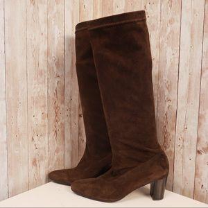 Robert Clergerie sz 7.5 brown suede sock boots